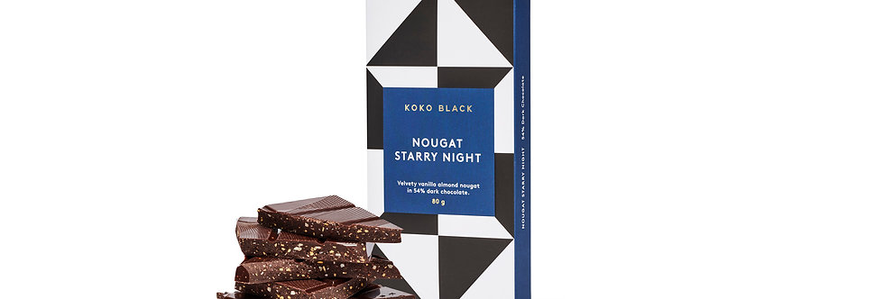 KOKO BLACK - Nougat Starry Night Block 80g