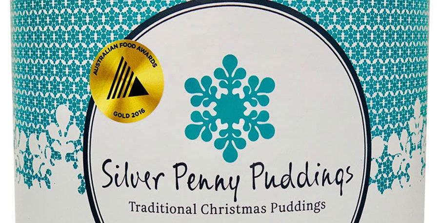 SILVER PENNY PUDDINGS -  Traditional Christmas Pudding 900g