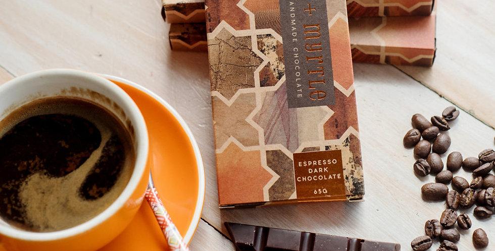 JASPER + MYRTLE - Espresso Dark Chocolate 100g
