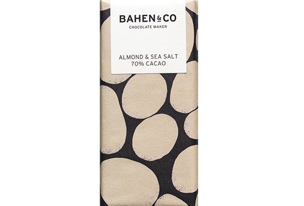 BAHEN - Almond & Sea Salt 70% Cacao 75g