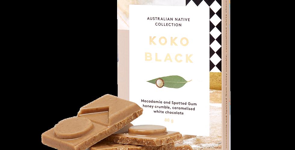 KOKO BLACK - Macadamia & Spotted Gum Honey | Caramelised White Chocolate Block