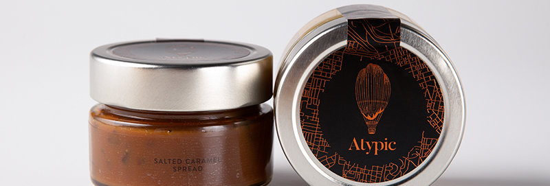 ATYPIC CHOCOLATE - Cocoa Nibs Salted Caramel Spread