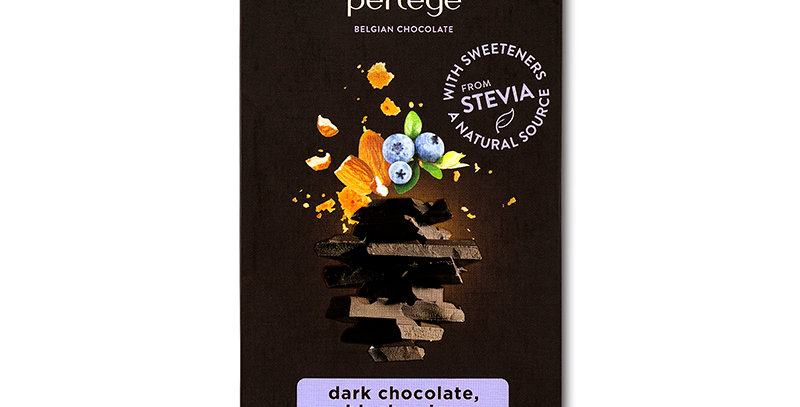 PERLEGE - Dark Chocolate, Blueberries & Almond Cookies 85g
