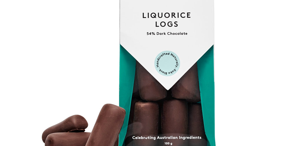 KOKO BLACK - Liquorice Logs Dark 100g