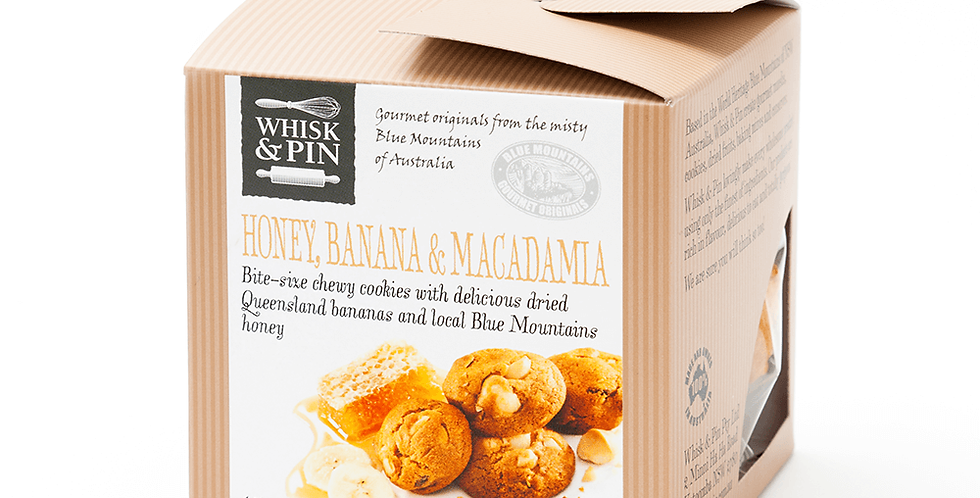 WHISK & PIN - Honey, Banana & Macadamia Biscuits 150g