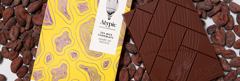 ATYPIC CHOCOLATE - 50% Milk Heart Of Pacific