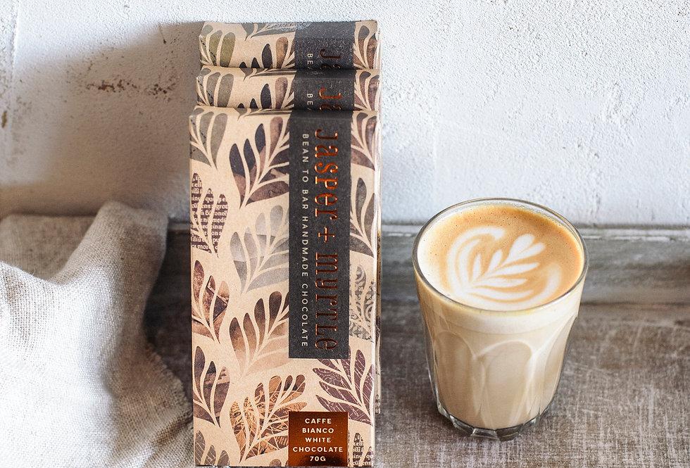 JASPER + MYRTLE - Caffe Bianco White Chocolate 100g