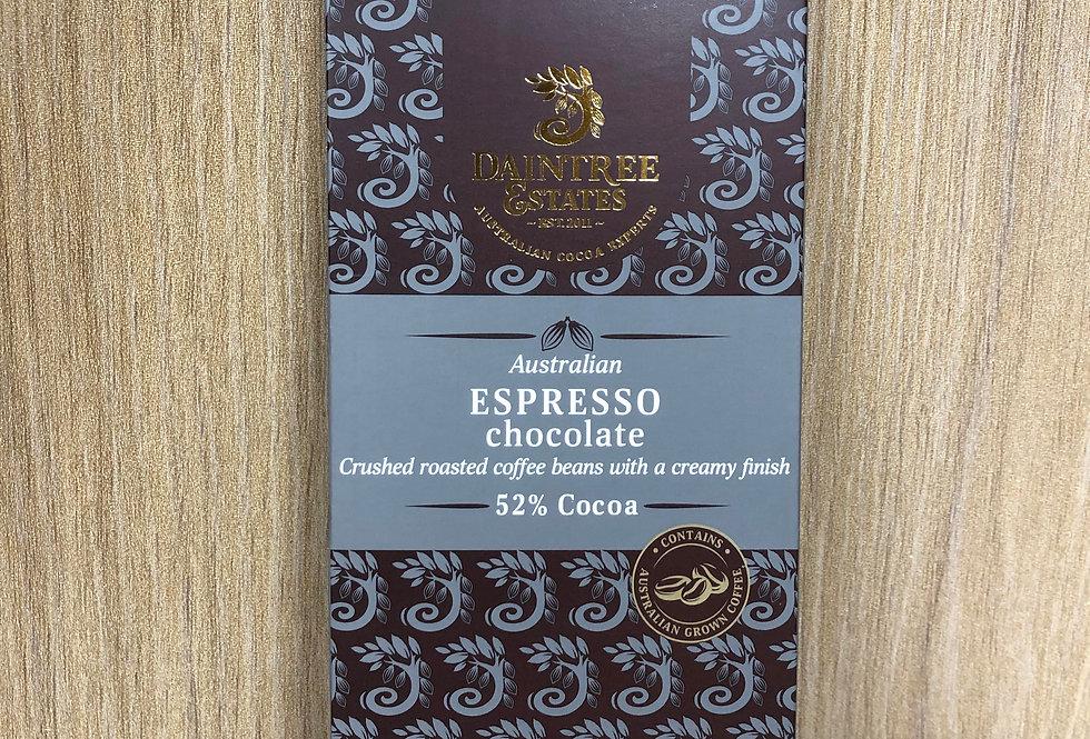 DAINTREE ESTATES - Australian Espresso 52% Cocoa 80g