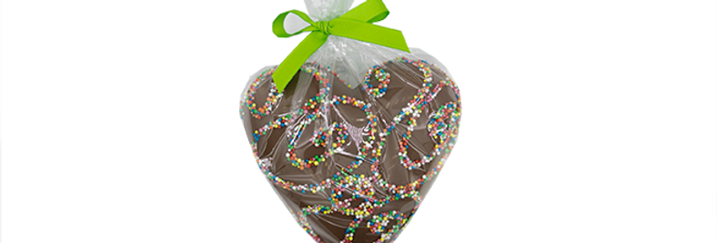 LIZZY'S CREATIONS - Chocolate Heart with Speckles