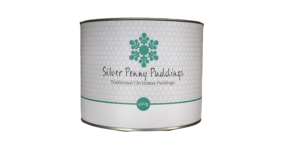 SILVER PENNY PUDDINGS -  Traditional Christmas Pudding 400g