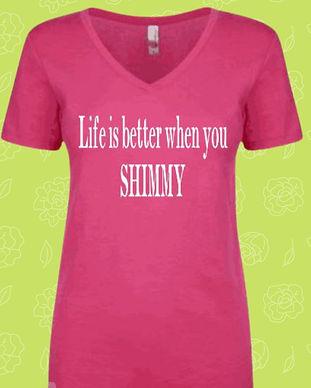 LIFE SHIMMY BELLY DANCE TSHIRT