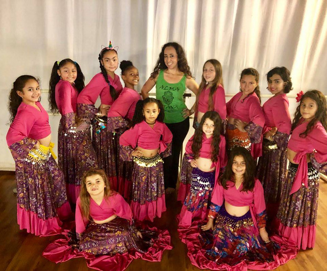 Our students getting ready for their first performance at Caravan of Dancers 2018.