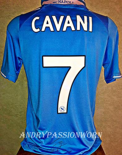 Maglia Del Napoli Match Worn Indossata Da Edison Cavani Solomaglieindossate