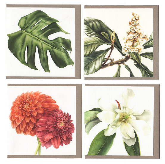 Square Card Pack of 4