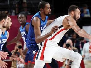 🔴فرنسا تفوز على أمريكا في كرة السلة وتذيقها مرارة الهزيمة في أولمبياد طوكيو