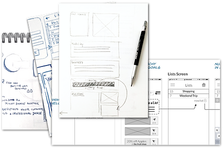 Stacked Wireframes
