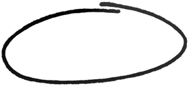 Drawn Oval