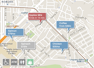 Market Touch Shopping List Map