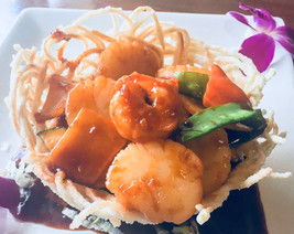 Bird Nest Shrimp & Scallop