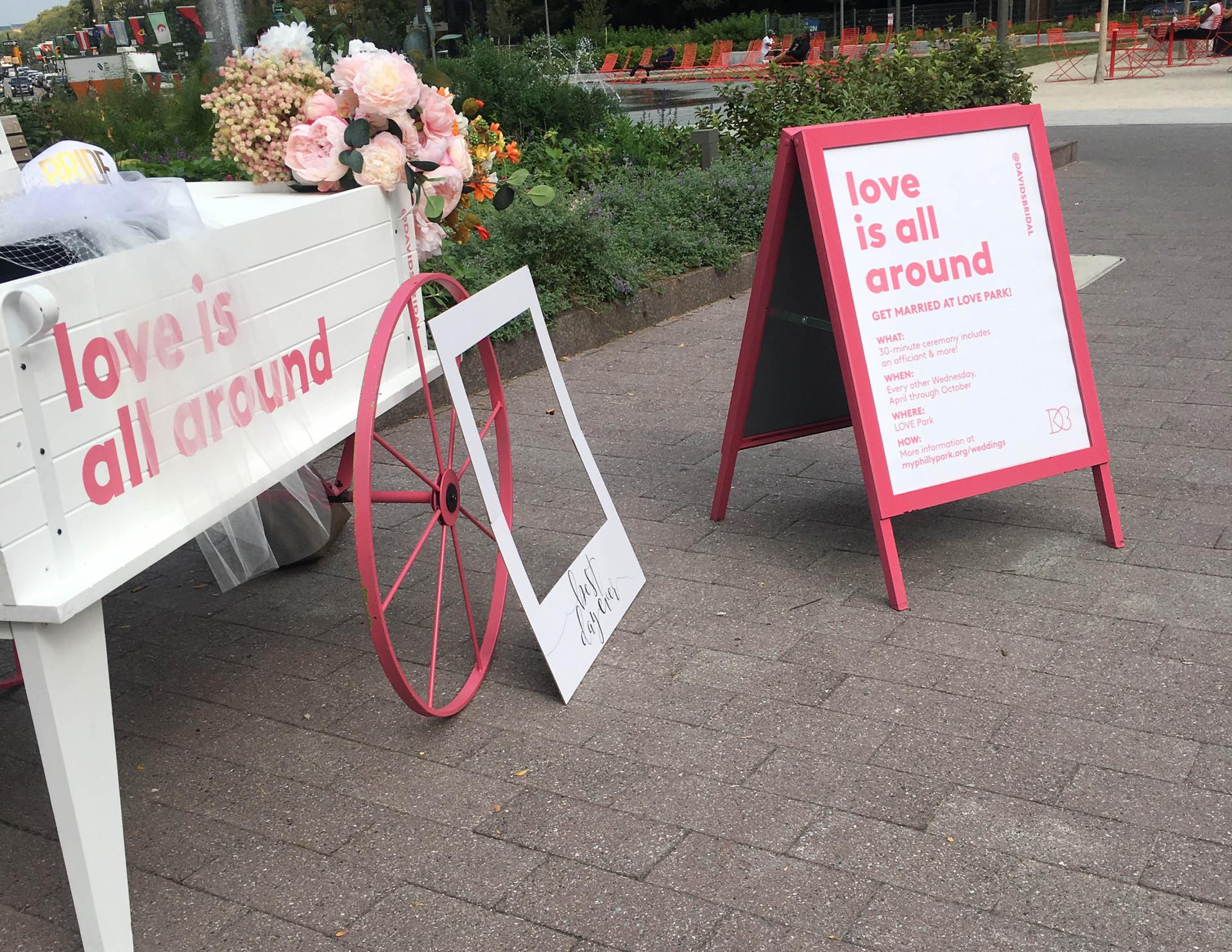 David's Bridal LOVE Park Pop-Up
