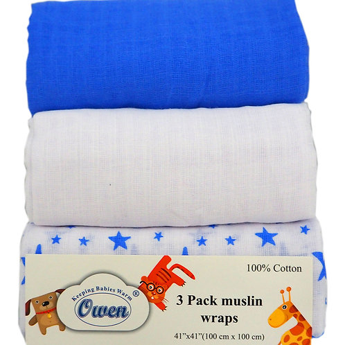 Owen Baby 3-pc Muslin Wrap