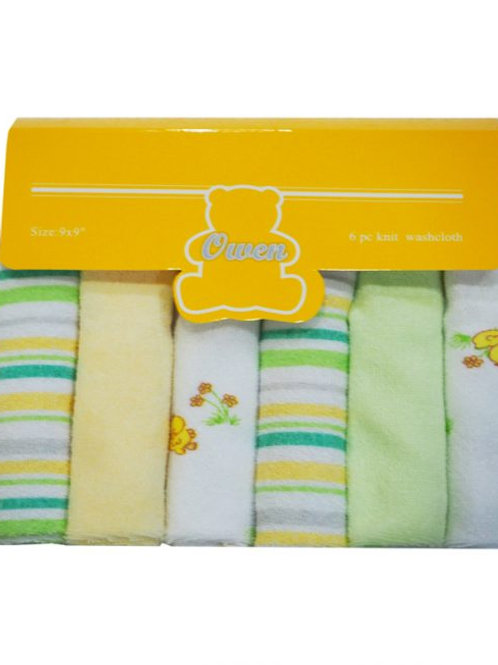 Owen Baby 6-pc Knit Washcloth