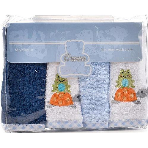Owen Baby 4-pc Terry Washcloth