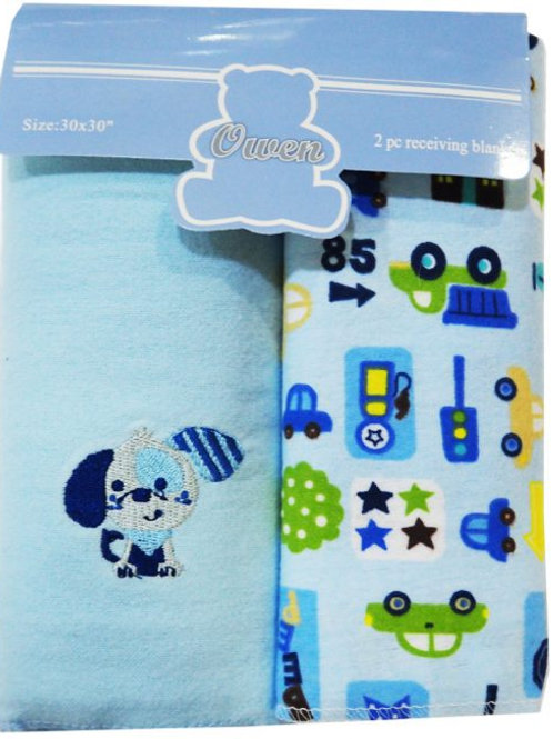 Owen Baby 2-pc Recieving Blanket