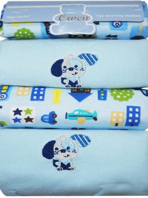 Owen Baby 4-pc Rrecieving Blanket