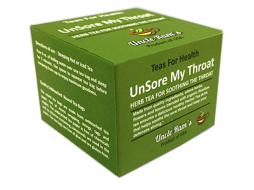 "Uncle Ram's ""Unsore My Throat"" Health Tea"