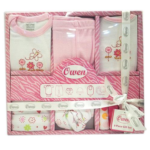 Owen Baby 9-pc Gift Set - Pink