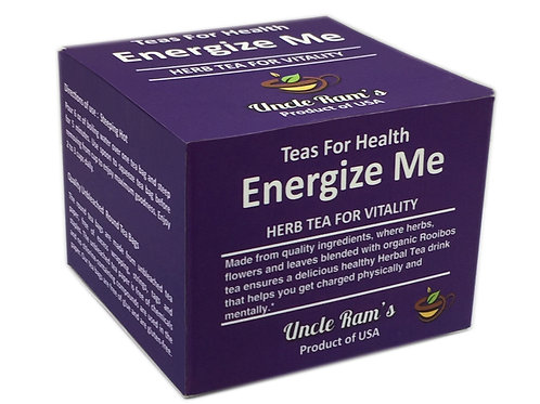"Uncle Ram's ""Energise Me"" Health Tea"