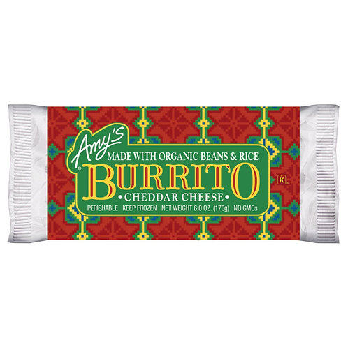 Amy's Kitchen Cheddar Bean Burrito
