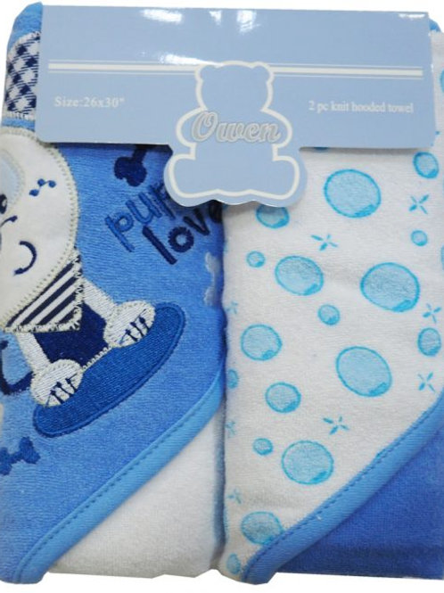 Owen Baby 2-pc Knit Hooded Towel