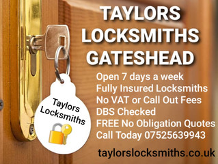 Gateshead Locksmith, Taylors Locksmiths