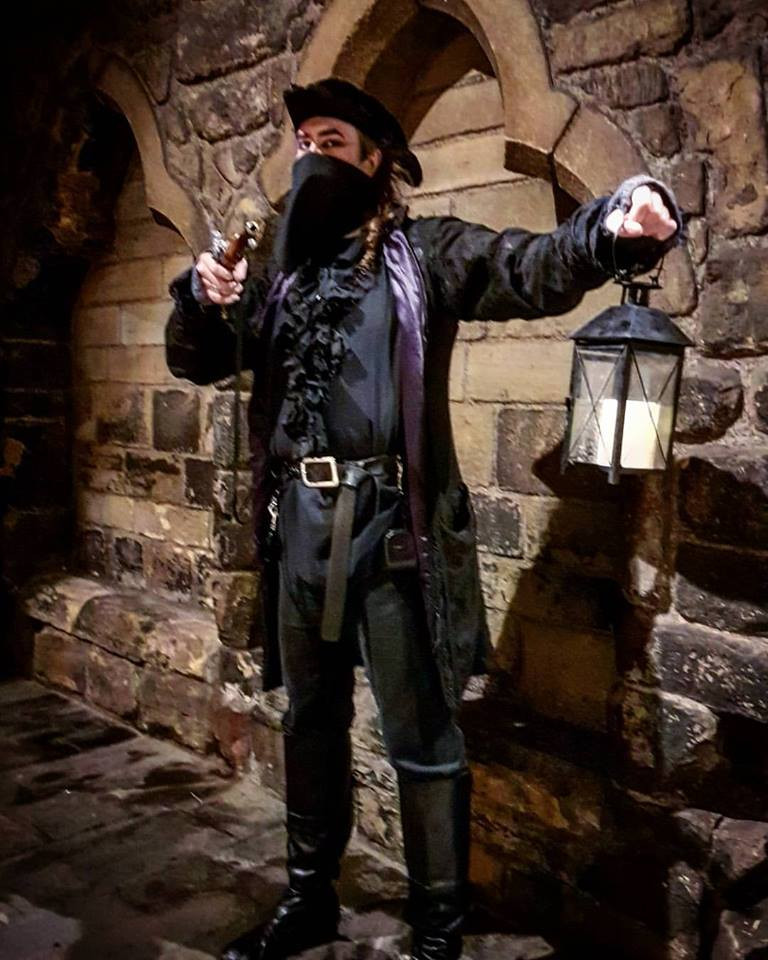Newcastle Tour Guide, Highway Robber, William Long, hat, lamp, gun, Newcastle Ghost Walks