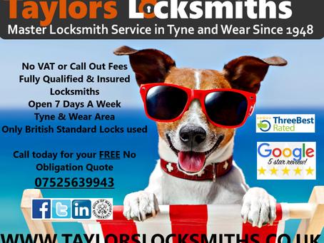 Taylors Locksmiths Gateshead - Your Local & Reliable Locksmith 👍