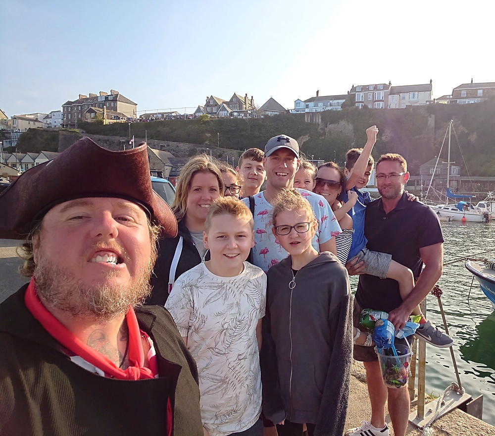 Happy customer from our Newquay Smugglers Coastal Adventure and Boat Trip