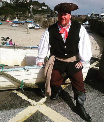 Newquay smugglers walk, pirate, Steve Bl