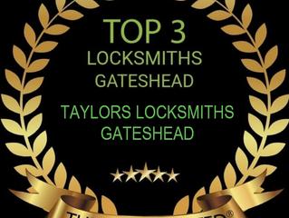 🏆Taylors Locksmiths Voted TOP 3 Locksmiths in Gateshead 2020 & 2021 - Well Done