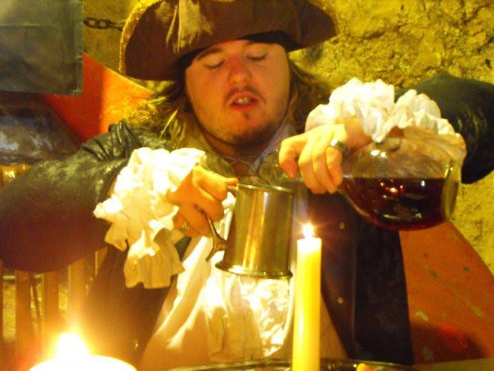 Newquay Smugglers walk, tour guide, rum, French brandy, tankard, Inn.