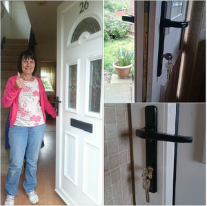 happy customer, locksmith customer, taylors locksmiths