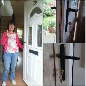 happy customer, locksmith customer, taylors locksmiths