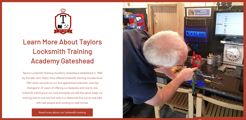 Gateshead Locksmith Training, Locksmith