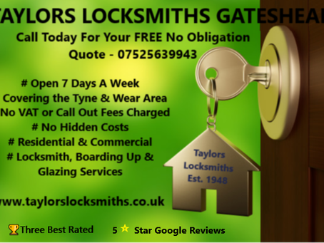Gateshead Locksmith , TAYLORS Locksmiths