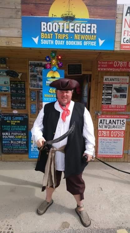 pirate Steve, Newquay Smugglers Walk Har