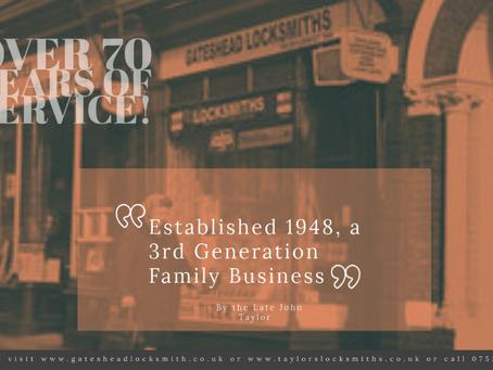 Gateshead Locksmith Service, Over 70 Years of Service!