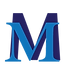 logo with royal blue M on top of a larger dark blue M