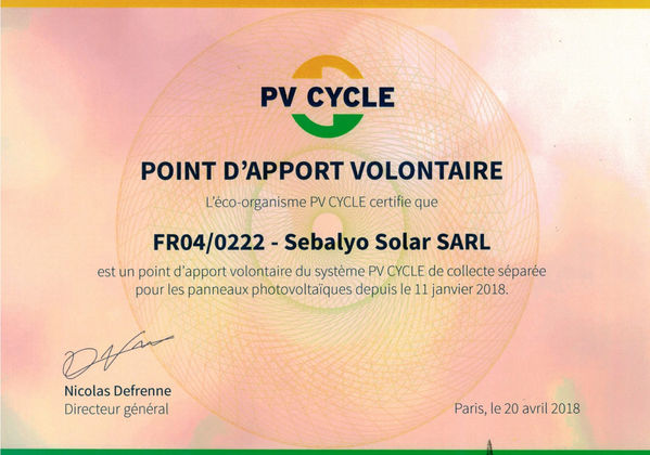 photovolaique, pv cycle, recyclage, renouvelable, energie, solaire,