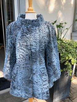 Iceblaue Persianerjacke